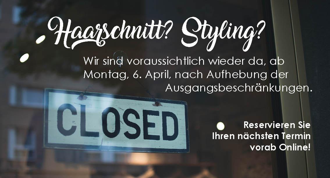 Schild mit der Aussage Closed am Schaufenster